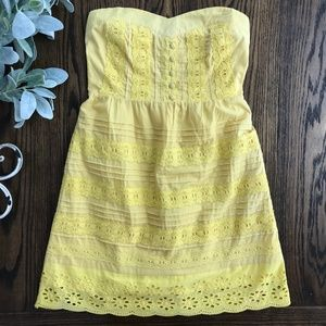 Flying Tomato Yellow Strapless Dress